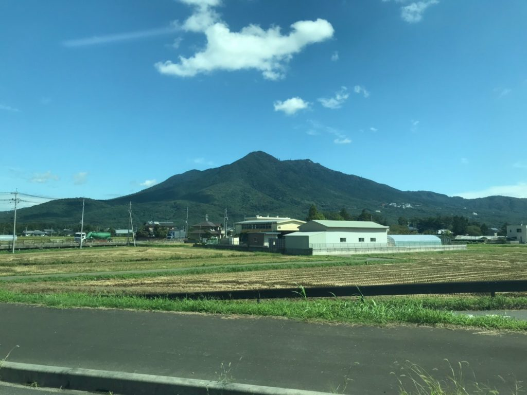 バスから見た筑波山